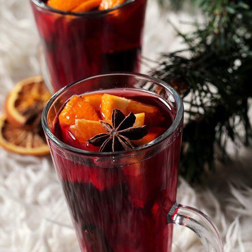 новогодний безалкогольный глинтвейн